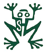 stříbrná žába